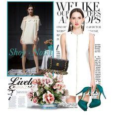 Fashion White Sleeveless Round Collar Dress
