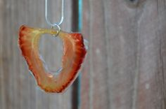 Real Fruit Jewelry Resin Strawberry Necklace Pendant