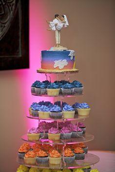 Cupcake Cake http://celebrationsoftampabay.com/