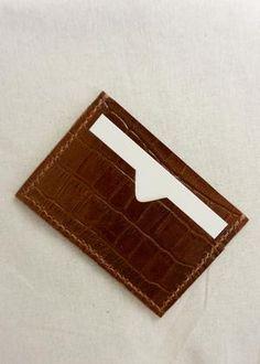Sorént Oslo | Croc Cardholder Cognac | Women's Accessories Oslo, Italian Leather, Hand Stitching, Crocs, Women's Accessories, Card Holder, Rolodex, Women Accessories