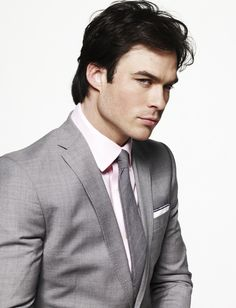 "Ian Somerhalder as Christian Grey in EL James' ""Fifty Shades of Grey"". What say you?"