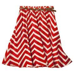 chevron belted skirt $19
