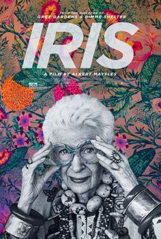 Iris: The vibrant colors of the backround seeping into the frames of Iris' glasses make for an arresting portrait.