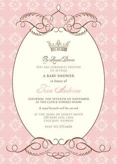 By Royal Decree Baby Shower Invitation Princess Birthday Invitations