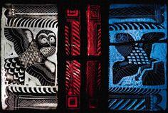 Glass imgages -- owls