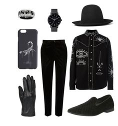 """""""Warlock Aesthetic"""" by azraelslibrary on Polyvore featuring River Island, Valentino, Gucci, Vivienne Westwood, The Horse, Giorgio Brutini, Off-White, Wilsons Leather, men's fashion and menswear"""