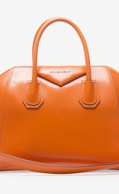 Givenchy Givenchy Orange Leather Small Antigona Bag....I WANT IT IN RED!