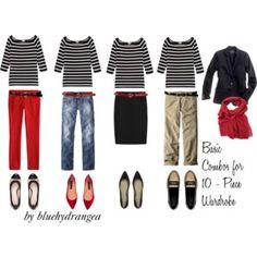 10 - Piece Wardrobe - Striped Shirt