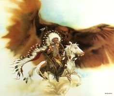 """Rushing War Eagle"" by Bev Doolittle"