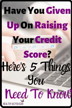 Need to buy a house or a car but have bad credit? This post breaks down the 5 things you need to know in order to improve your credit score to a higher number. How To Fix Credit, Build Credit, Improve Your Credit Score, Budgeting Finances, Financial Tips, Money Management, Scores, Saving Money, Improve Yourself