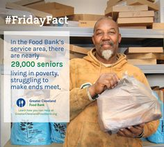 May is Older Americans Month. Nearly 29,000 seniors in our service area are living in poverty. You can make a difference in their lives by contributing to the Greater Cleveland Food Bank.