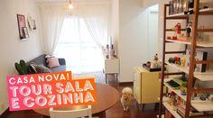 Tour do apê novo: sala e cozinha • Karol Pinheiro