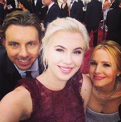 Ireland Baldwin, Dax Sheppard et Kristen Bell aux Oscars.