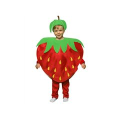 Disfraces de Niños y Bebes, disfraces de frutas. Increible Disfraz de Fresa compuesto por plancha de goma espuma en forma de fresa y gorro.