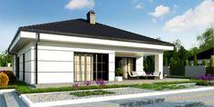 Z443 to wyjątkowy dom z kategorii projekty domów z garażem jednostanowiskowym Outdoor Living, Outdoor Decor, House Plans, Sweet Home, New Homes, Exterior, House Design, How To Plan, Gallery