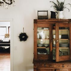 "simply-divine-creation: "" Whitney Johns "" Love the decor on top of armoire- maybe above the kitchen sink?"