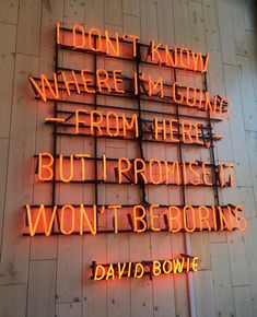 David Bowie You are in the right place about Poetry activities Here we offer you the most beautiful pictures about the iqbal Poetry you are looking for. When you examine the David Bowie part of the pi Pretty Words, Beautiful Words, Cool Words, Words Quotes, Me Quotes, Sayings, Qoutes, Neon Signs Quotes, Neon Lighting