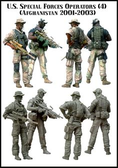 A pair of Special Operation Forces troopers in Afghanistan. These are intended to go along with the other SOF from Evolution but are perfect on their own or with a vehicle like a Warpig or Hilux. $36
