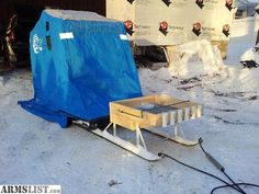 1000 images about skidoo ice fishing sled shack on for Ice fishing shanty for sale