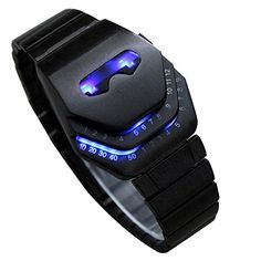 Next Men S Peculiar Cool Gadgets Interesting Amazing Snake Head Design Blue Or Red Led Watches With Stainless Steel Strap Wth8021