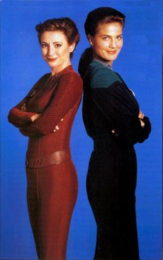 Kira Nerys & Jadzia Dax. I might have already pinned this, but these two were my favorite. They really showed what it meant to be a woman in a Sci-Fi show.