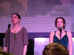 """Sutton Foster @ Barnes & Noble part 4 """"Flight"""" with Megan McGinnis... One of my fav songs from Sutton's solo album """"Wish"""""""