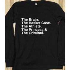 Breakfast club shirt..I really want this
