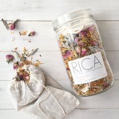 Bathtub Tea Gingermint   RICA bath + body Bath Tea, Milk Bath, Lotion, Tea Packaging, Glass Packaging, Healing Herbs, Natural Cosmetics, Bath Salts, Diy Beauty