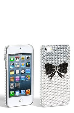 Tri-Coastal Design Rhinestone Bow iPhone 5 Case (Juniors)