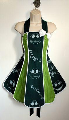 Vintage inspired Jack Skellington apron  by XOSkeletonCreations, $74.99