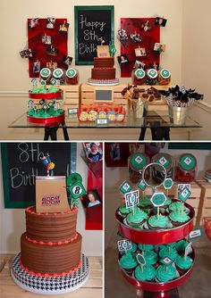 How to Make a Boy-Themed Photo Backdrop Soccer Cake, Soccer Party, 10th Birthday Parties, Birthday Ideas, Skateboard Party, Holiday Parties, Kid Parties, Cupcake Queen, Baptism Party