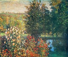 Roses in the Hoshede`s Garden at Montregon, Claude Monet