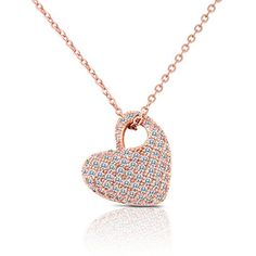 Rose Gold Heart Necklace with Crystals for Her - Women, Teen Girls, Girlfriend or Kids in Pretty Gift Box SmitCo LLC http://www.amazon.com/dp/B010MR6Y8C/ref=cm_sw_r_pi_dp_iW9Pvb0PXRYAD
