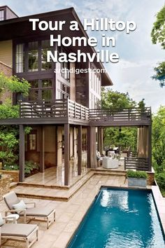 Designer Ray Booth and TV executive John Shea build a boldly sophisticated house on a spectacular site overlooking Nashville | archdigest.com