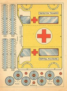vintage crafts, print and make paper toys