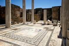 House of Dionysus. The Holy Island of Delos. Vacation Places, Dream Vacations, Places To Travel, Places To See, Places Ive Been, Delos Greece, Apollo And Artemis, Ancient Ruins, Dionysus