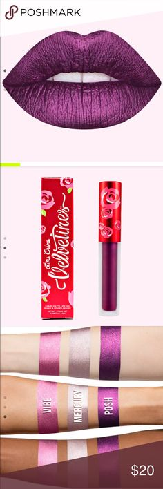 LIME CRIME VELVETINES.    POSH Liquid Metallic Lipstick  Brand new  100% authentic  Price is firm   Sorry no trades  Please don't ask for lower price I really can't  Unless you Bundle 3+ items to save 5% Lime Crime  Makeup Lipstick