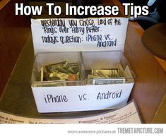 How to Increase Tips: Genius.