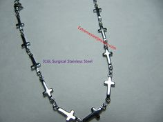 "316L Surgical Steel ""Cross"" Chain / Necklace"