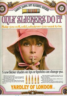 Forget Tangee - my first cosmetic was Yardley Slicker.