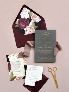 The Wedding Invitation Trends 2019 Couples Must See - WeddingWire In the market for wedding stationery? Find out which wedding invitation trends will carry over into the new decade—and which trends are new to the scene. Elegant Wedding Invitations, Wedding Invitation Wording, Event Invitations, Botanical Wedding Invitations, Invitation Kits, Invitations Online, Invitation Paper, Invitation Templates, Wedding Trends