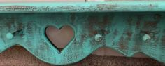 Distressed Turquoise Shelf