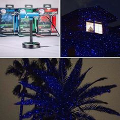Our Indigo Twilight Illuminator laser light is one-of-a-kind! Sparkle Magic is one of only a few manufacturers to offer a blue light. This model creates a frost look on trees and homes making it is an excellent choice for your outdoor Christmas lights or any occasion!