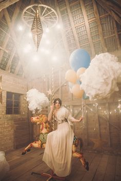 Bride on a Carousel Horse | Whimsical Wedding Inspiration | Kerry Ann Duffy Photography | Bridal Musings Wedding Blog