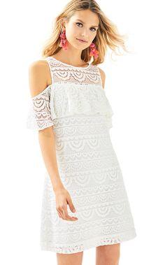 25b51891e9b07c Lyra Dress. Gold WedgesResort DressesSummer Dresses For WomenLilly PulitzerWhite  LaceWhite DressNice DressesCold Shoulder ...
