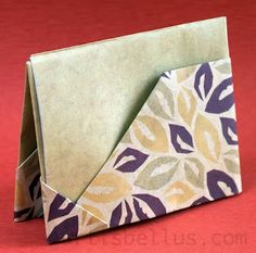 How to make an origami gift card holder. Ideas FOR the best