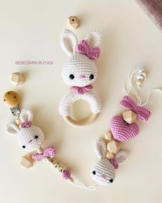 Baby crochet teethers and pacifiers – Artofit Crochet Baby Toys, Newborn Crochet, Crochet Dolls, Baby Knitting, Weighted Blanket Diy, Bow Garland, Kawaii Crochet, Newborn Toys, Baby Rattle