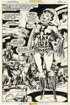 thebaxterbuilding:  More Jack Kirby Black panther loveliness.