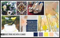 Lizzy B Loves visual + sparkle = inspiration : Contrasting Spring Hues #wedding_inspiration #wedding_color_palette #color_palette_inspiration