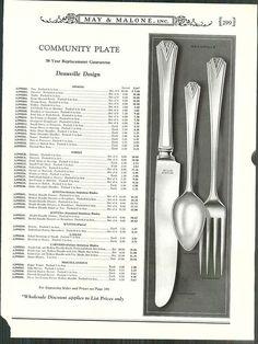 Oneida Community Plate DEAUVILLE Place Settings Vintage 1929 ART DECO Silver Plate Silverware Flatware